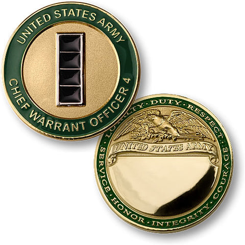 U.S. Army Chief Warrant Officer 4 Challenge Coin Credential Case