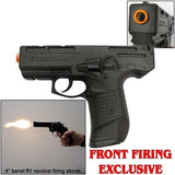 Zoraki M925 Black - 9mm Full Auto Machine Pistol Front Firing Blank Gun - INCLUDES FREE TRAINING GUN - MaxArmory