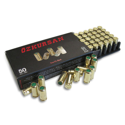 9mmPA Blank Ammo - 1 Box of 50 Rounds (same as PAK)
