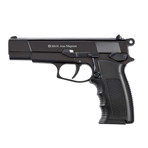 EKOL ARAS Magnum Black - Top Fire 9mm Blank Firing Guns
