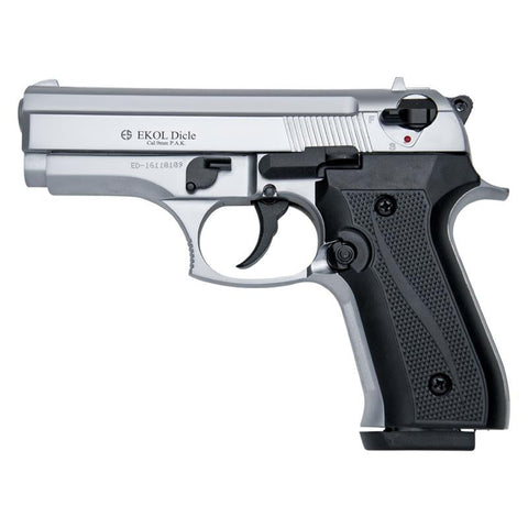 EKOL DICLE 8000 Blank Firing Replica Gun - Nickle Finish