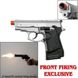 Zoraki 914 Nickel - Semi Auto Front Firing 9mm Blank Gun