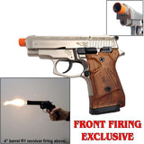 Zoraki 914 Satin Engraved - Semi Auto Front Fire 9mm Blank Firing Gun