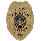 Law Abiding Citizen Golden Finish full size badge - MaxArmory