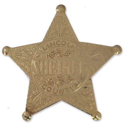 Lincoln County Sheriff Golden Star badge - MaxArmory