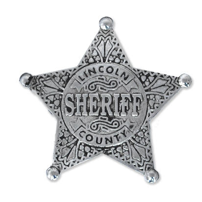 Lincoln County Sheriff Silver Star badge - MaxArmory