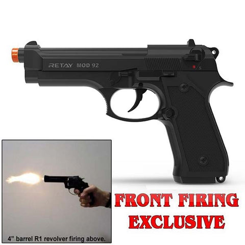RETAY MOD 92 Black - Front Fire 9mm Blank Firing Gun