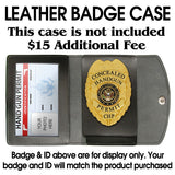Marshal Style Fugitive Recovery Agent Badge Set