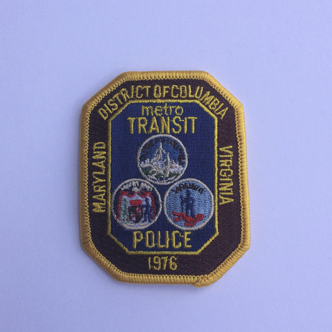 DC Maryland Virginia Metro Transit Police patch - MaxArmory