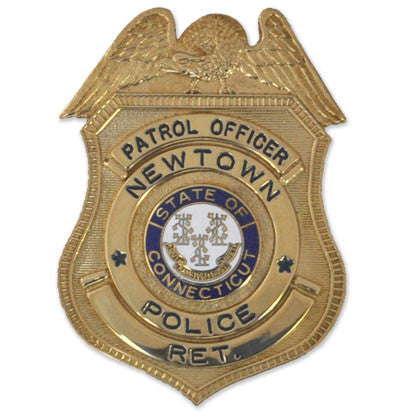 Patrol Officer Newtown Police Retired badge