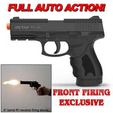 (FREE 25 RDS OF AMMO) RETAY PT24 EXTREME FULL AUTO Black - 9mm Front Firing Blank Machine Gun