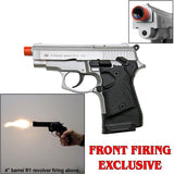 Zoraki 914 Nickel - Full Auto Front Fire 9mm Blank Firing Gun
