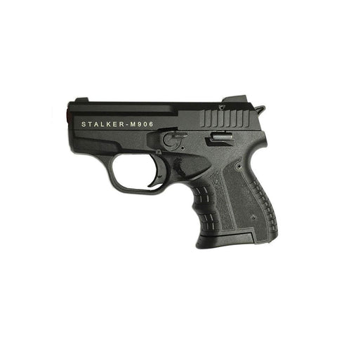 (Pre-Order - Restock Soon - FREE BOX OF AMMO) Zoraki 906 Stalker Black - Top Fire 9mm Blank Firing Guns