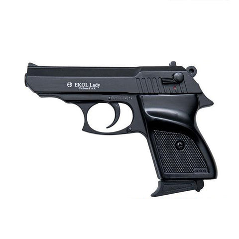 EKOL LADY VCOMBAT Black - Top Fire 9mm Blank Firing Guns