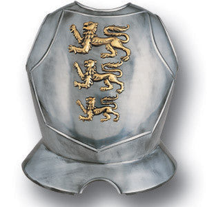 Steel Breastplate with Lions Passant - MaxArmory