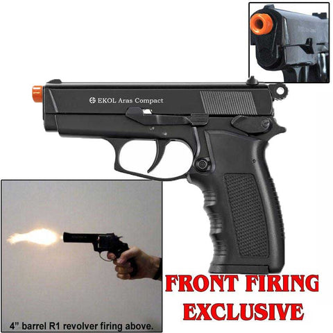 EKOL ARAS Compact Black - Front Fire 9mm Blank Firing Guns