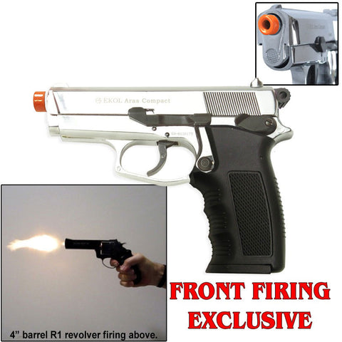 ARAS Compact Chrome Finish - Blank Firing Replica Gun