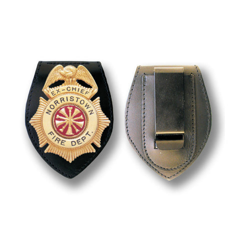 Universal Leather Belt Badge Holder