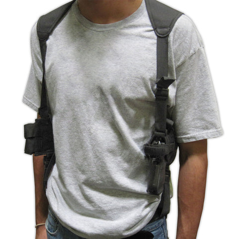 Shoulder Pistol Holster - Black - MaxArmory