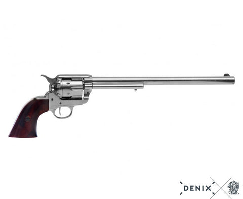 "Denix - Buntline Special .45 Caliber Peacemaker Revolver with 12"" barrel - Nickel"