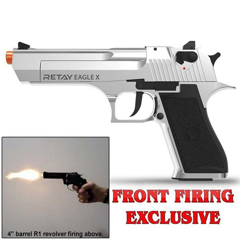 RETAY EAGLE X STORM Chrome - 9mm Front Firing Blank Gun