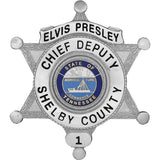 Elvis Presley - Collector Badge Silver Finish
