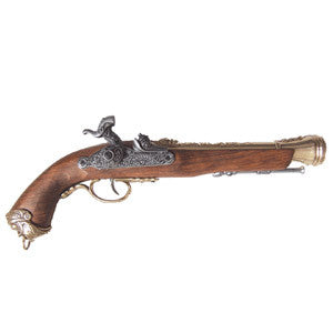 Denix 18th Century Italian Flintlock Pistol - Brass