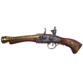 Denix - Left-Handed Austrian Flintlock Brass Finish