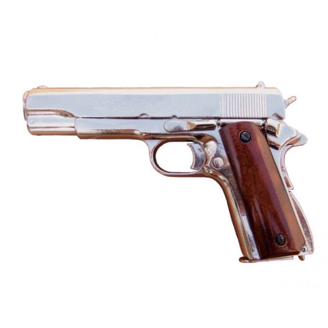 Denix M1911 .45 Caliber Government Automatic - Nickel - Non-Firing Replica Gun