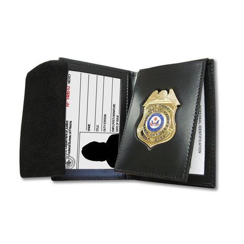 FED-2ID - Custom Cut Leather Badge Case