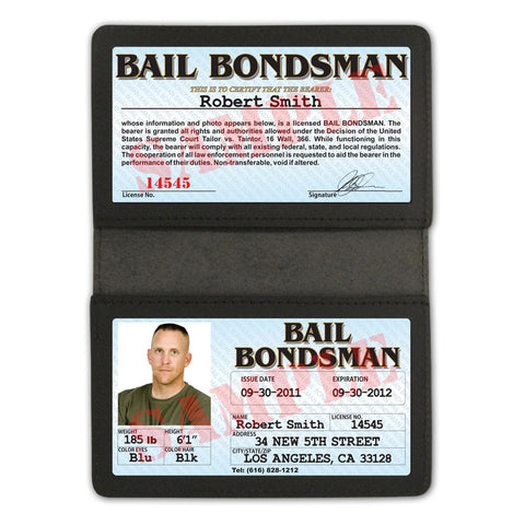 Bail Bondsman Folio - Custom Made