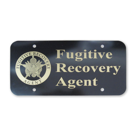 Fugitive Recovery Agent Visor/License Plate - MaxArmory