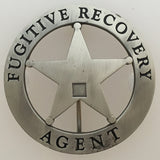 Clearance - Round Fugitive Recovery Agent Badge - No Center - MaxArmory