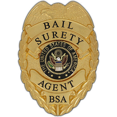 435 Bail Surety Agent Badge Set