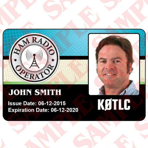 Ham Radio Operator Identification ID Card