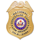 HR218 National Concealed Carry Badge - MaxArmory