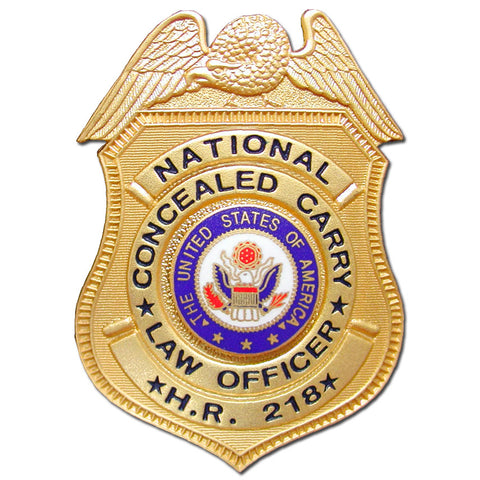 HR218 National Concealed Carry Badge