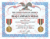 Iraq Campaign Medal Certificate - MaxArmory
