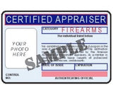 Certified Appraiser ID Card - MaxArmory