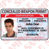 Concealed Weapon Permit ID Card