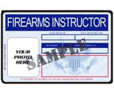 Firearms Instructor ID Card - MaxArmory
