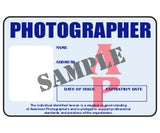 Photographer ID Card - MaxArmory