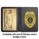 Saint Florian - Bronze Antique  Challenge Coin Credential Case - MaxArmory