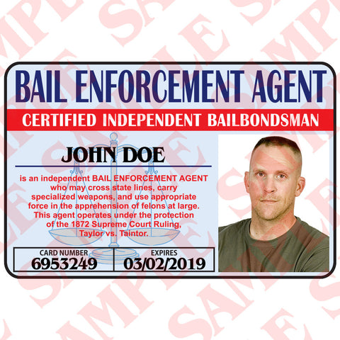 Bail Enforcement Agent ID Card