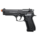 (FREE 25 RDS OF AMMO - OUT OF STOCK - PRE-ORDER NOW!) EKOL Jackal Dual Magnum Black - Full Auto Front Fire 9mm Blank Firing Guns