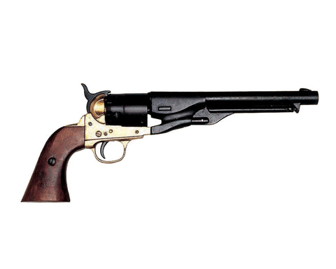 Denix - M1860 CIVIL WAR PISTOL WITH BRASS FINISH (Not Resin)