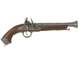 Denix 18th Century Italian Flintlock Pistol - Antique Gray (Not Resin) - MaxArmory
