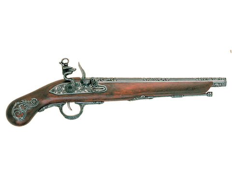 Denix 18th Century Italian Flintlock Pistol - Pewter