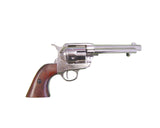 Old West Frontier Replica Nickel Revolver - Non-Firing Blank Gun - MaxArmory