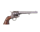 Denix - Old West M1873 Nickel Finish Cavalry Barrel  Revolver - Non-Firing Replica Gun